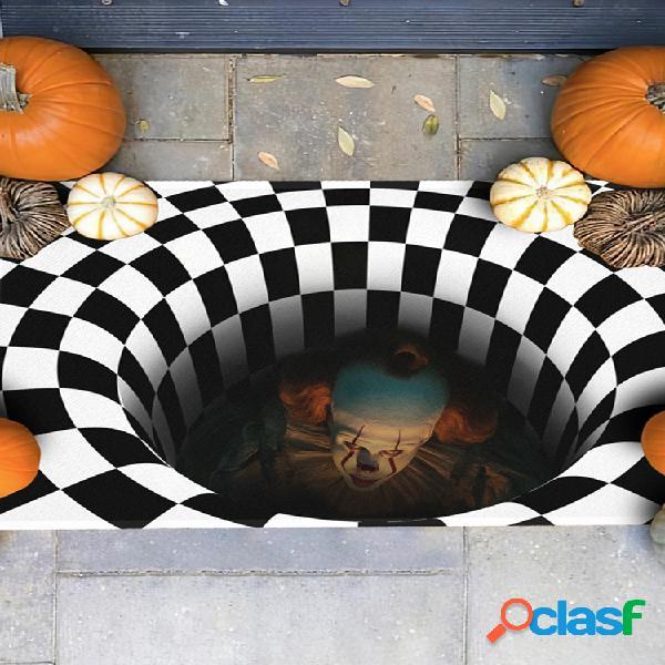 It joker pennywise 3d illusion capacho aterrorizante palhaço decoração de halloween tapete melhor presente de halloween