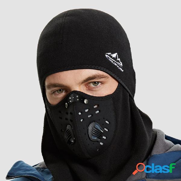 Homens plus grosso mantenha aquecido andar ao ar livre à prova de vento proteção anti-embaçante pescoço lenço respirável máscara