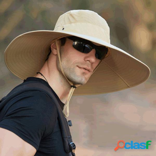 Aumentar o pescador masculino chapéu chapéu protetor solar à prova d'água ao ar livre chapéu montanhismo solar chapéu