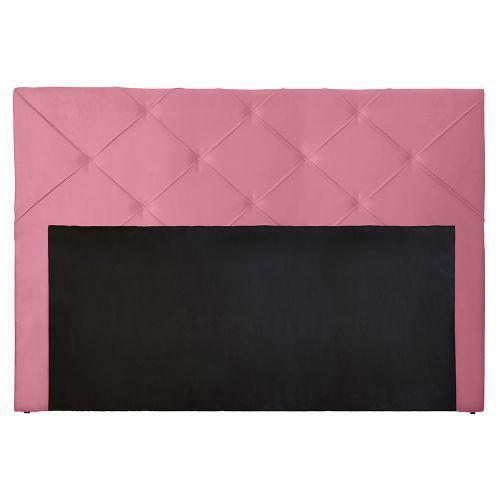 Cabeceira para cama box luciana queen 160 cm suede rose