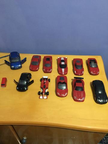 Coleção de carros miniaturas ferrari shell