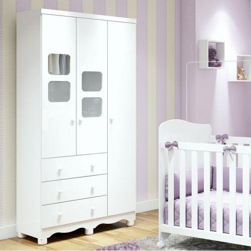 Guarda roupa infantil 3 portas 3 gavetas uli m/u00f3veis