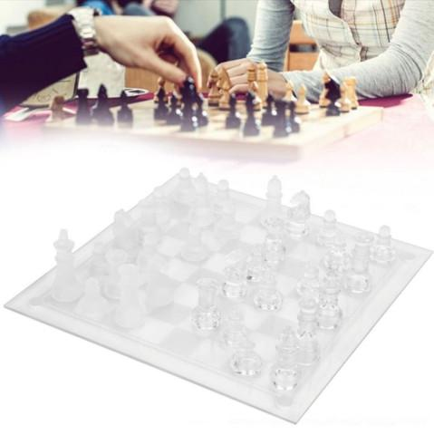 Jogo de xadrez internacional glass chess set