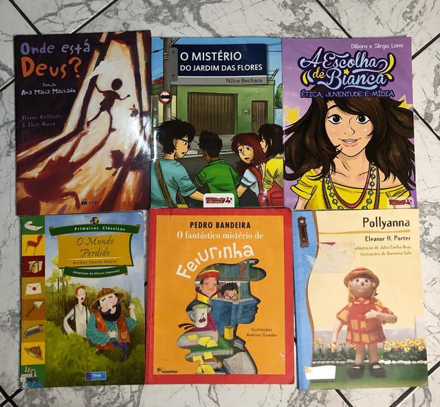 Livros paradidáticos, gramática aplicada 8º ano e por