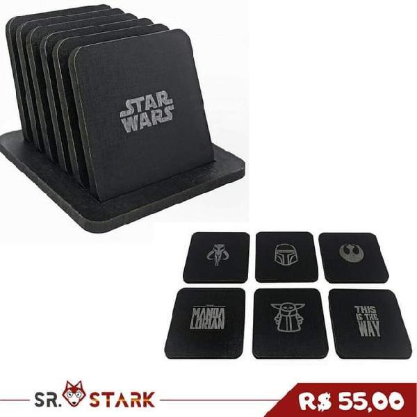Porta copos star wars/ mandalorian