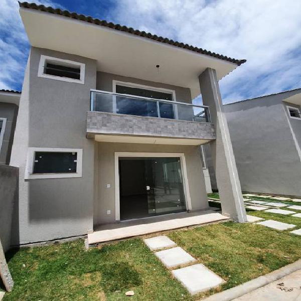 Casa nova em residencial com 3 quartos em buraquinho