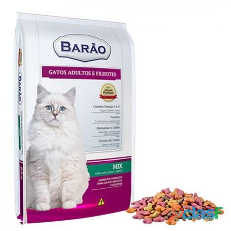 Ração Barão Premium Gato Mix (Carne, Peixe e Vegetais) 8 kg e 25 kg