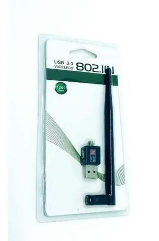 Antena receptora de sinal wifi 900 mbps -802.11n usb 2.0