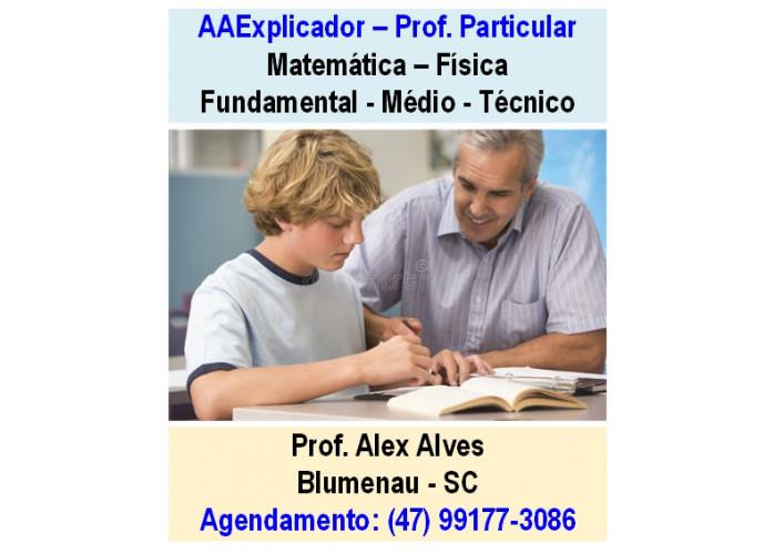 Professor particular - aula de matemática e física -