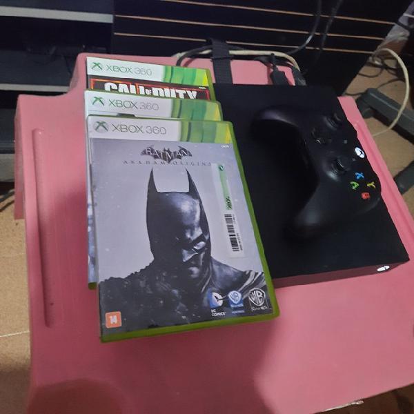Xbox one x, 1 tb, 1 controle + 3 jogos