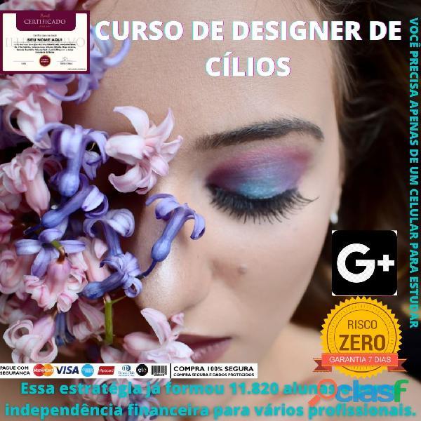 Curso Online De designer de Cilios