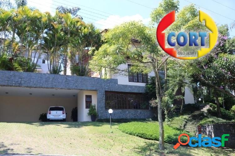 Casa com ampla área verde e vista panorâmica em arujá!!!