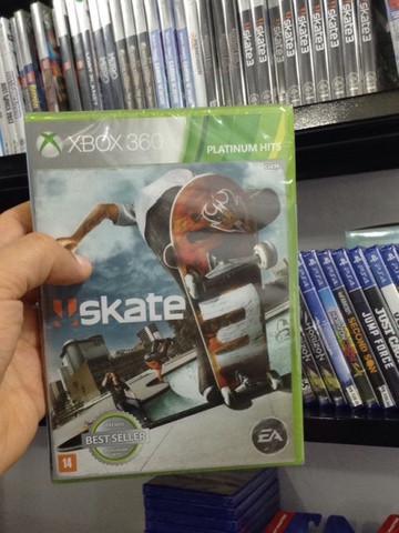 Jogo novo skate 3 xbox 360 e xbox one. entrega grátis