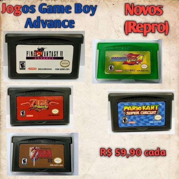 Jogos novos game boy color e advance