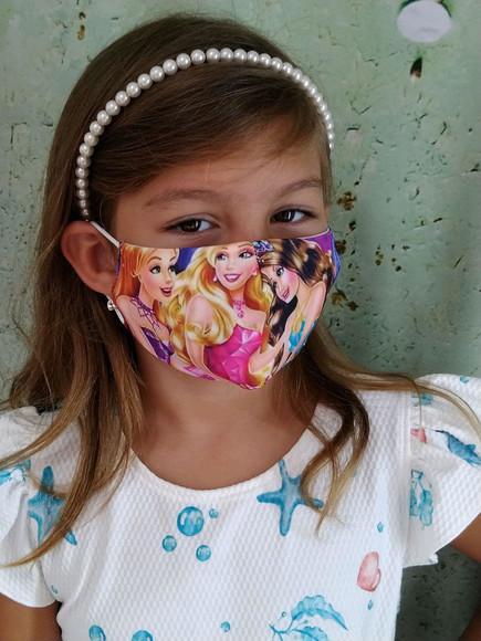 Mascara infantil estampada de 4 a 8 anos
