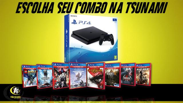 Playstation 4 1tb + 3 jogos