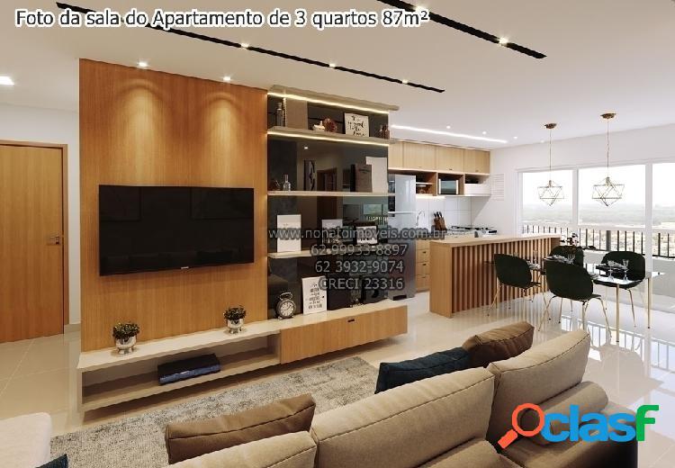 Apartamentos para venda, 2 (1 suíte) e 3 quartos (1 suíte),3 suítes plenas