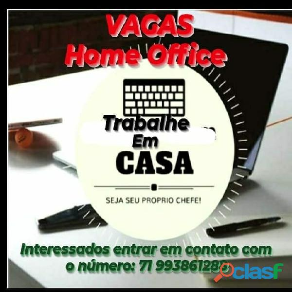 VAGAS HOME OFFICE