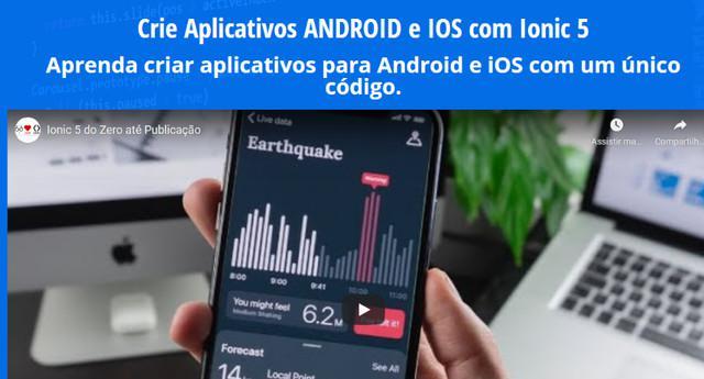 Aprenda criar aplicativos android e ios