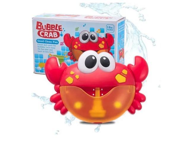Brinquedo caranguejo espuma para banho musical bubble crab