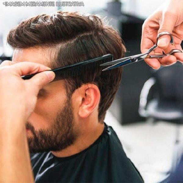 Depilação e corte de cabelo masculino