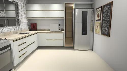 Projeto de cozinha planejada 3d   plano de corte   promob