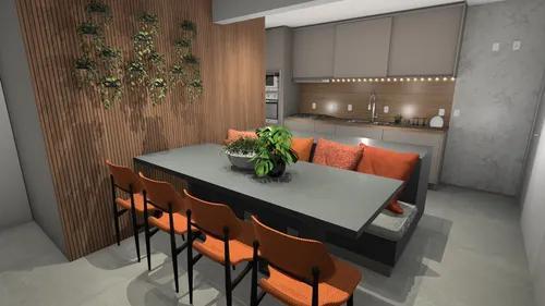 Projeto de interiores (móveis, decoração, medidas e 3d)