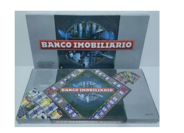 Banco imobiliário jogo tabuleiro tradicional notas