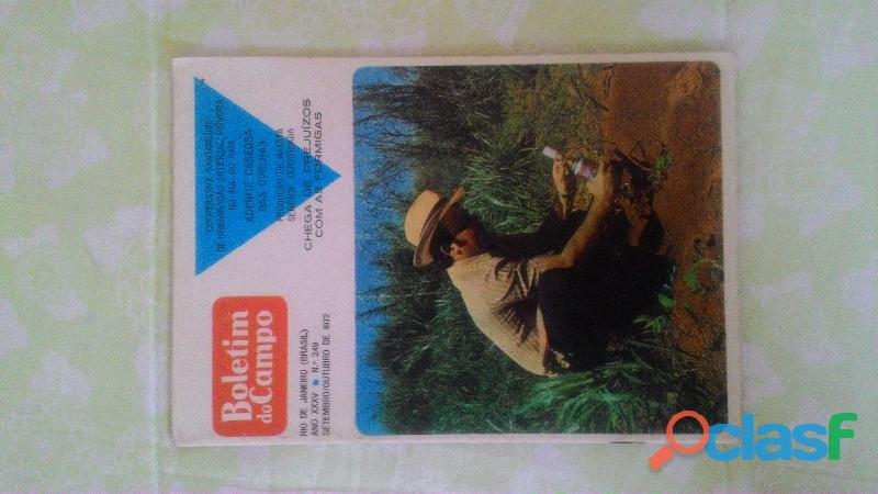 Lote com 6 brochuras boletim do campo