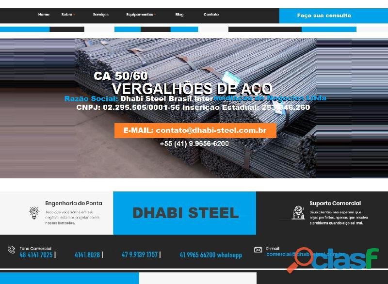 Vergalhão de aço CA50 Importado da Turquia
