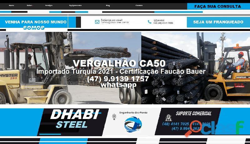 Vergalhão de aço CA50 Importado da Turquia 9
