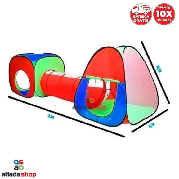 Barraca infantil c/túnel 3 em 1 em até 10x s/juros entrega