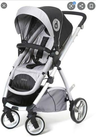 Carrinho de bebê + bebê conforto com suporte de carro