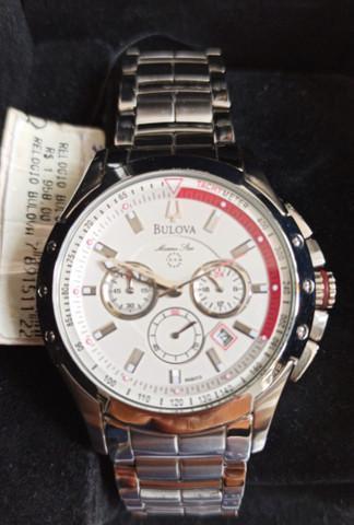 Relógio bulova marine star novo sem uso algum ref wb30855j