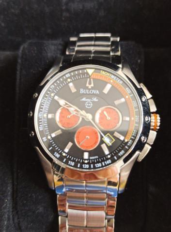 Relógio bulova marine star referência wb30855j novo