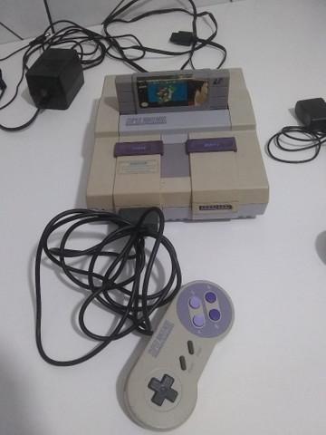 Nintendo original com jogo do super mario