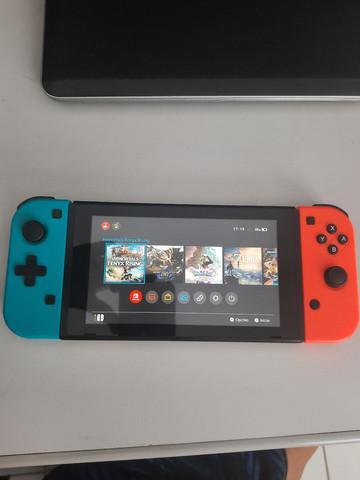 Nintendo switch 32gb desbloqueado + 128gb com vários jogos