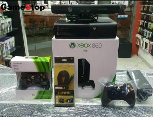 Xbox 360 completo com kinect/destravado com 8000 jogos