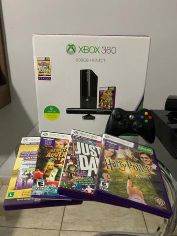 Xbox 360 slim 500gb + kinect + 4 jogos originais ?