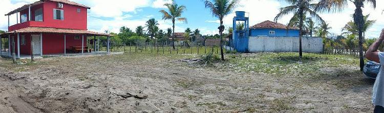 Terreno plano a menos de 300m da praia em corumbau / ba.