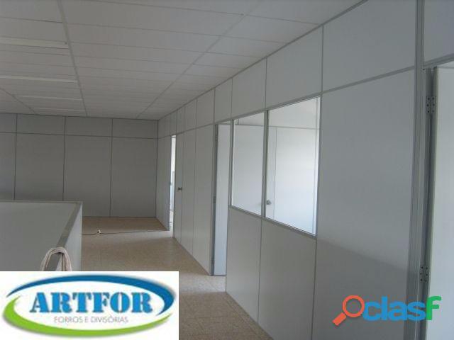 Divisórias eucatex, dry wall, paredes gesso, divisórias escritório, divisória naval