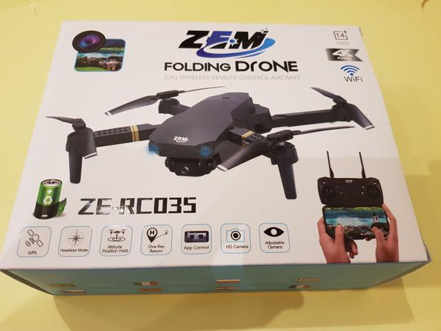 Drone zem ze-rc035 com câmera 4k wi-fi