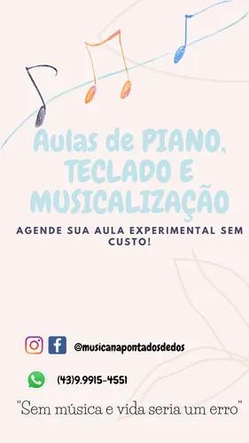 Aulas particulares de piano,teclado e musicalização