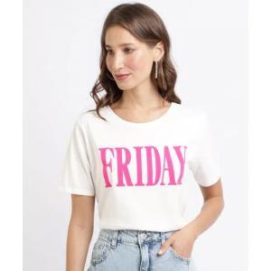 "Parcelado] blusa feminina ""friday"" manga curta decote"