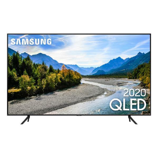 "Samsung smart tv qled q60t 4k 55"" borda ultrafina visual"
