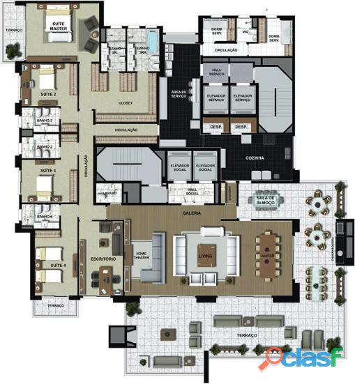 Apartamento De Alto Padrão Mansão Suspensa,Com 540 M² No Edifício Maison Victoria 1