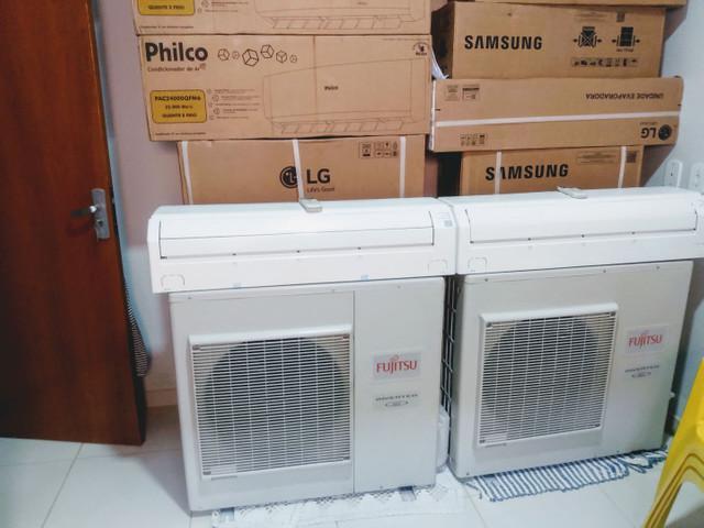 Ar condicionado fujitsu inverter 12 mil btus instalado