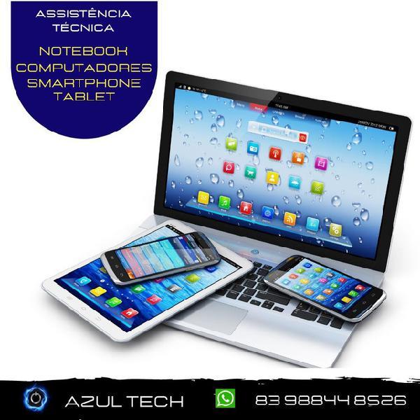 Assistência técnica - smartphones, notebooks, tablets e