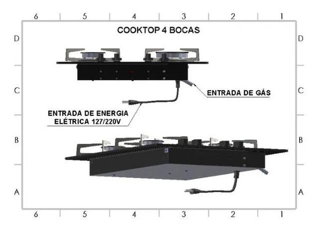 Fogao cooktop