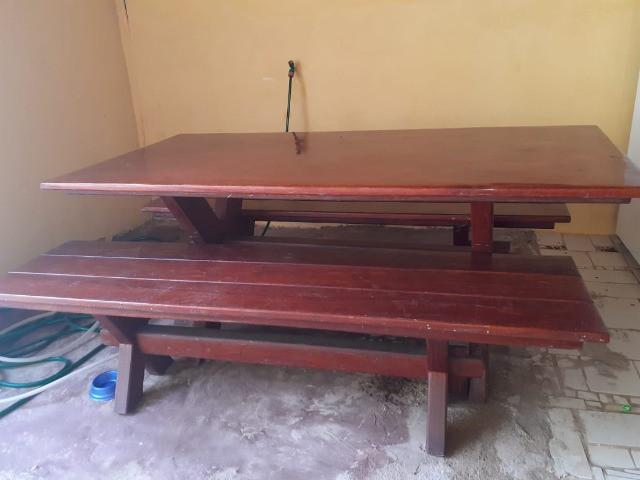 Mesa madeira angelim semi nova